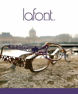 Lafont eyeglass frame poster